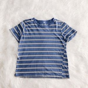 Pacsun Striped Distressed T-Shirt